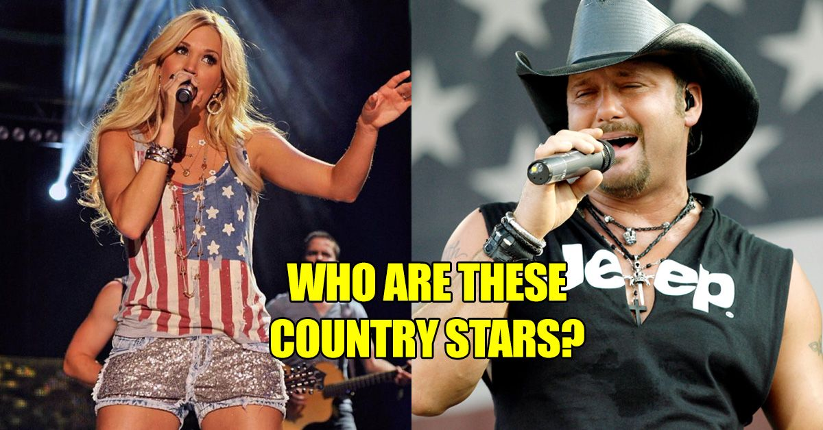 if you can u0026 39 t name these country singers  take off your