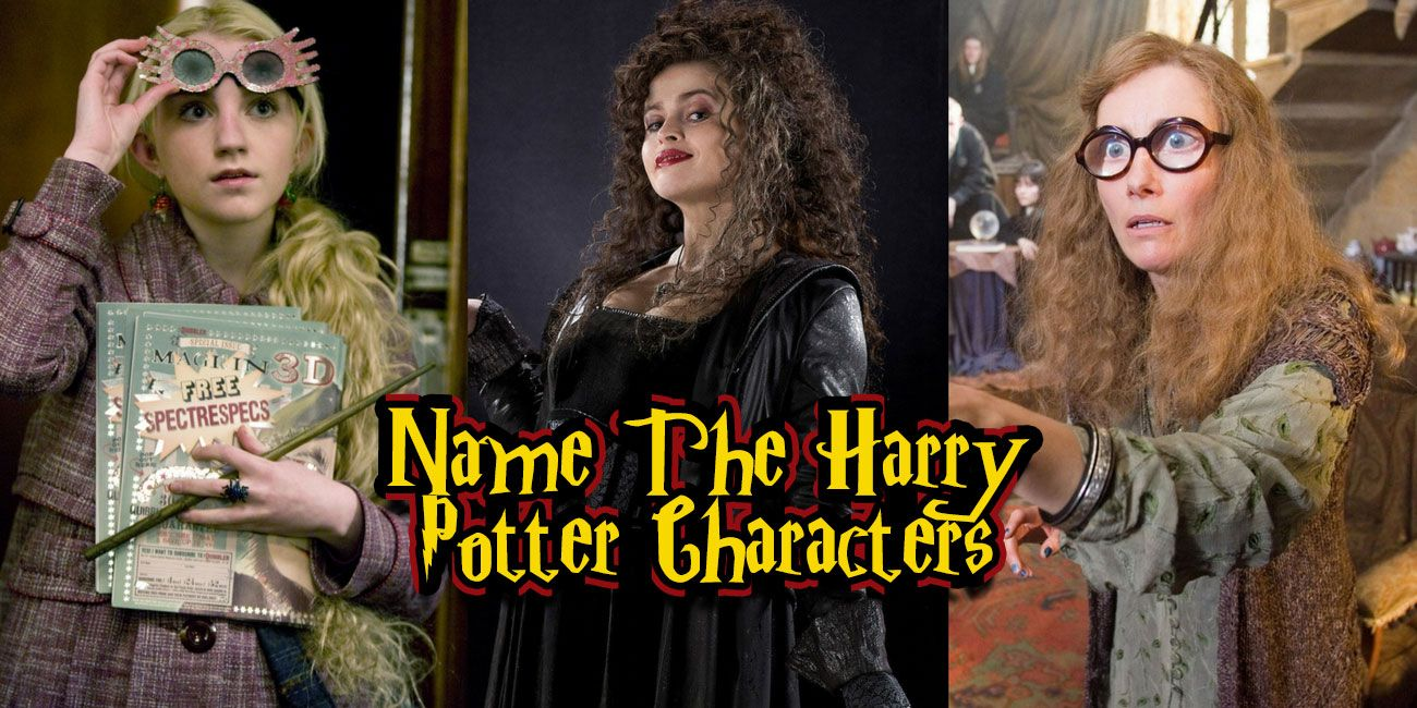 only the biggest harry potter fan can name all of these characters