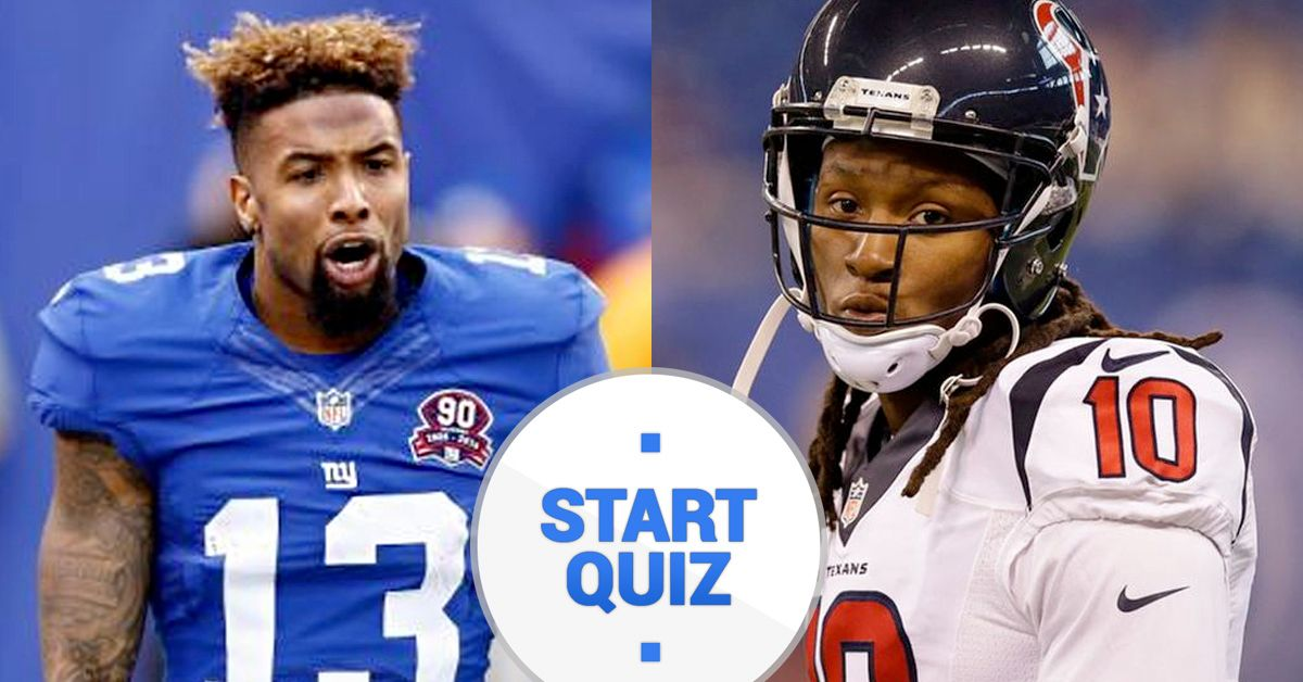 ee42f6d5d We Bet You Can t Name Over 75% Of These NFL Wide Receivers!